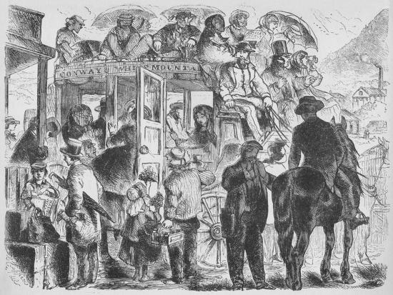 'Coaches to resorts and hotels', c1859, (1938)-Unknown-Giclee Print