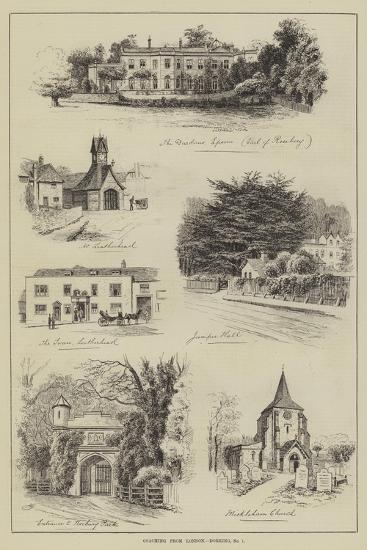 Coaching from London, Dorking-Alfred Robert Quinton-Giclee Print