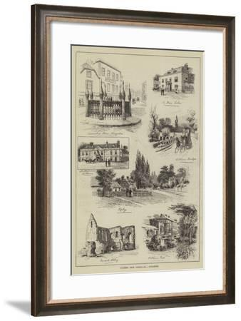 Coaching from London, Guildford-Alfred Robert Quinton-Framed Giclee Print