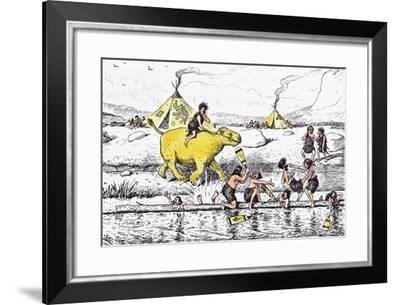 Coaching from the Bank Was No Sinecure Even in Those Days-Edward Tennyson Reed-Framed Giclee Print
