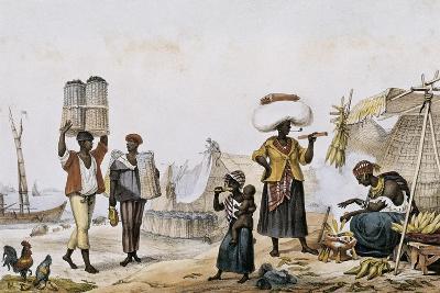 Coal and Vegetable Sellers-Jean Baptiste Debret-Art Print