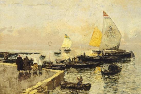Coal Boats in Chioggia-Mose Bianchi-Giclee Print