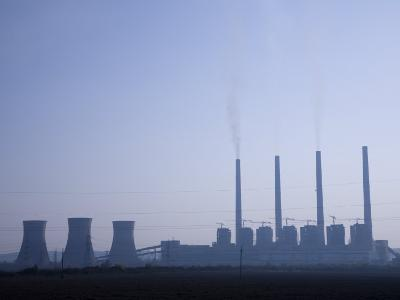 Coal Burning Electrical Power Plant-David Evans-Photographic Print