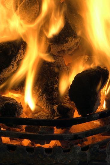 Coal Fire-Duncan Shaw-Photographic Print