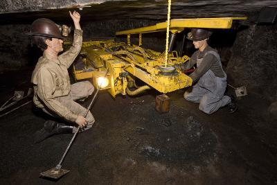Coal Mine Roof Bolting Display--Photographic Print