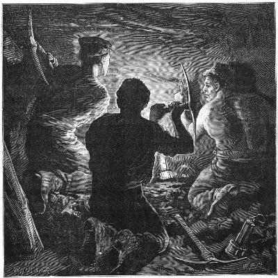 Coal Mining Accident, Tynewydd Colliery, South Wales, April 1877-William Heysham Overend-Giclee Print
