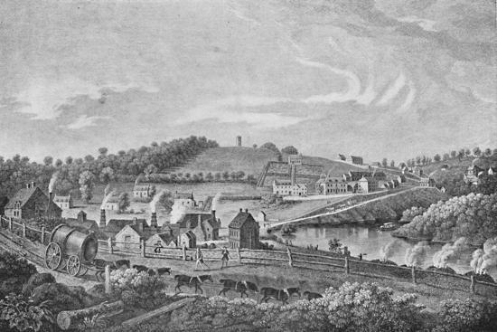 'Coalbrookdale in 1758', 1758, (1904)-Unknown-Giclee Print