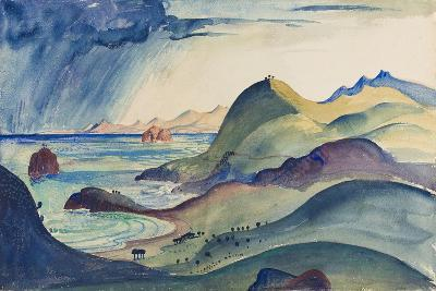 Coast at Cerberre-James Dickson Innes-Giclee Print