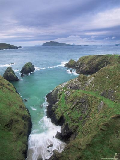 Coast at Slea Head and the Blasket Islands, County Kerry, Munster, Eire-Colin Brynn-Photographic Print