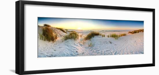 Coast Dunes Beach Sea, Panorama--Framed Photographic Print