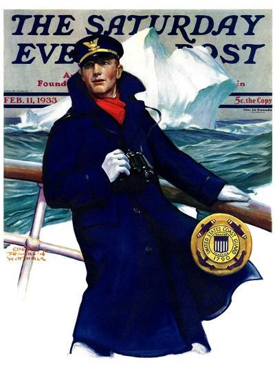 """Coast Guard,"" Saturday Evening Post Cover, February 11, 1933-Edgar Franklin Wittmack-Giclee Print"