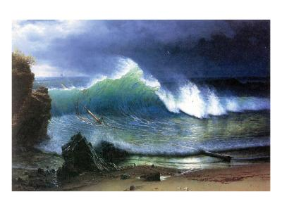 Coast of Emerald Lake-Albert Bierstadt-Premium Giclee Print