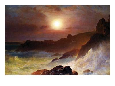 Coast Scene, Mount Desert-Frederic Edwin Church-Art Print