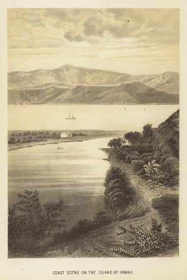 Coast Scene on the Island of Hawaii--Giclee Print