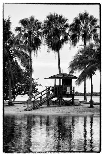 Coastal Beach Landscape - Miami - Florida-Philippe Hugonnard-Photographic Print
