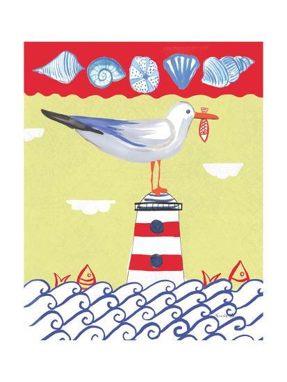 Coastal Bird I-Farida Zaman-Art Print