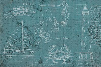Coastal Blueprint-Marco Fabiano-Art Print