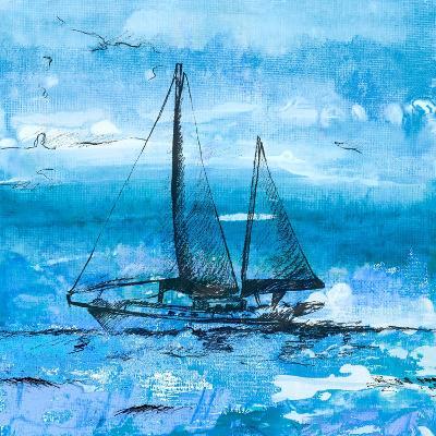 Coastal Boats in Watercolor II-Lanie Loreth-Art Print