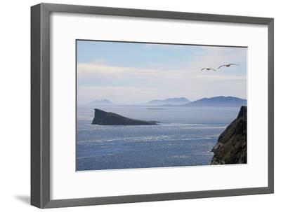 Coastal Cliffs, Falkland Islands-Charlotte Main-Framed Photographic Print