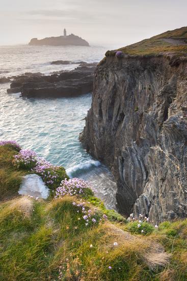 Coastal Cliffs, Godrevy Point, Nr St Ives, Cornwall, England-Paul Harris-Photographic Print