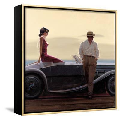 Coastal Drive-Brent Lynch-Framed Canvas Print