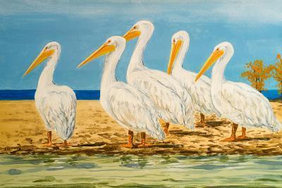 Coastal Flock I-Linda Baliko-Art Print