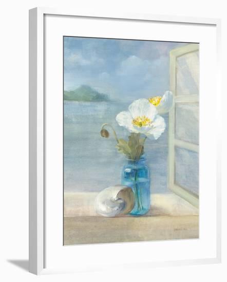 Coastal Florals II-Danhui Nai-Framed Art Print