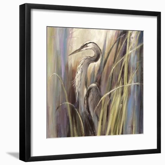Coastal Heron-Brent Heighton-Framed Art Print