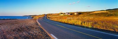 Coastal Highway at sunset, Nova Scotia, Canada