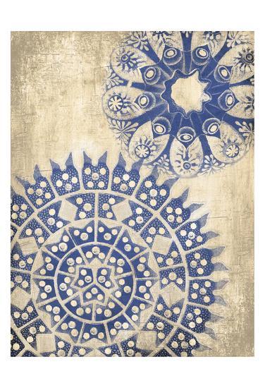 Coastal Indigo Pattern Third-Jace Grey-Art Print