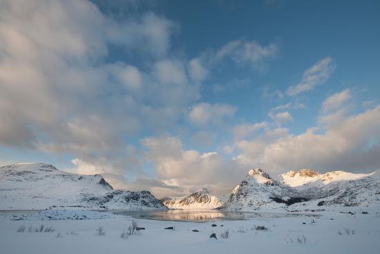 Coastal Landscape on Flakstadoya, Loftofen, Norway-moodboard-Photographic Print