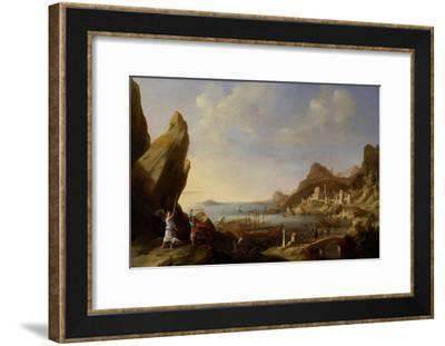 Coastal Landscape with Balaam and the Ass, 1634-Bartholomeus Breenbergh-Framed Giclee Print