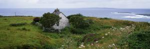 Coastal Landscape with White Stone House, Galway Bay, the Burren Region, Ireland