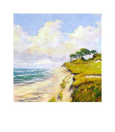 Coastal Lanscape-W^ Neck-Art Print