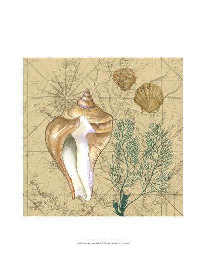 Coastal Map Collage III-Vision Studio-Art Print