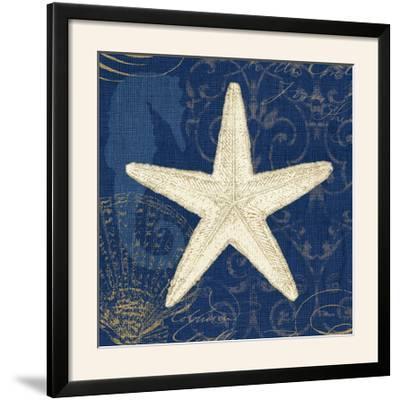 Coastal Moonlight I Teal Center-Pela Design-Framed Photographic Print