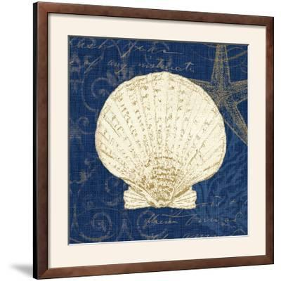 Coastal Moonlight II Teal Center-Pela Design-Framed Photographic Print