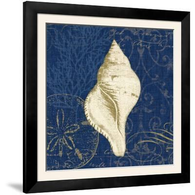 Coastal Moonlight IV Teal Center-Pela Design-Framed Photographic Print