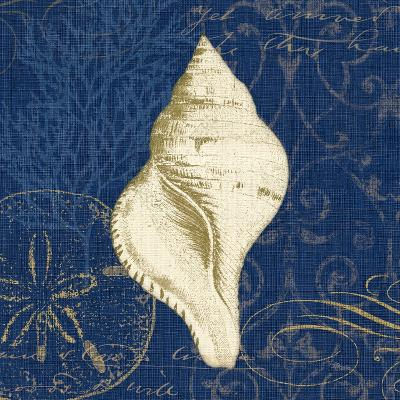 Coastal Moonlight IV Teal Center-Pela Design-Art Print