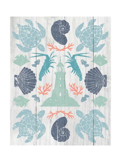Coastal Otomi III on Wood-Cleonique Hilsaca-Art Print