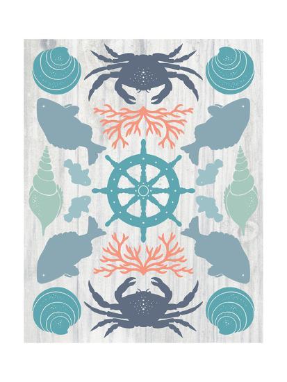 Coastal Otomi IV on Wood-Cleonique Hilsaca-Art Print