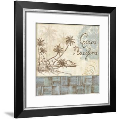Coastal Palms II-Daphné B.-Framed Giclee Print