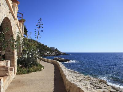 Coastal Path, Cap D'Ail, Cote D'Azur, Provence, French Riviera, Mediterranean, France, Europe-Wendy Connett-Photographic Print