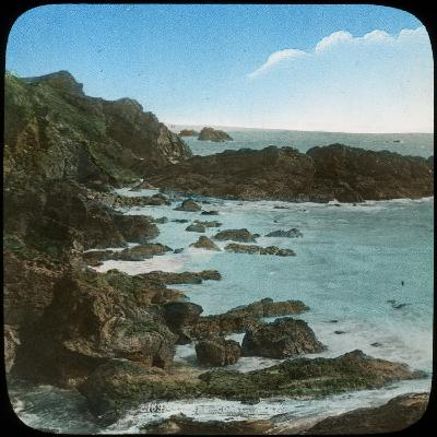 Coastal Scene Near the Lizard, Cornwall, Late 19th or Early 20th Century--Giclee Print