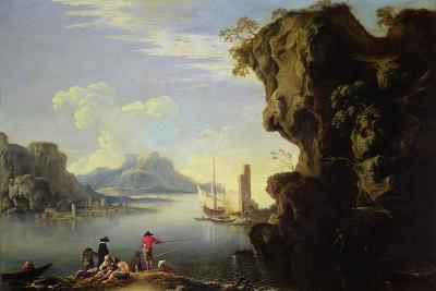 Coastal Scene with Fishermen-Salvator Rosa-Giclee Print