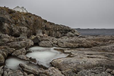 Coastal Scenery in Norway, Lofoten, Henningsv¾r, Long Exposure-Dieter Meyrl-Photographic Print