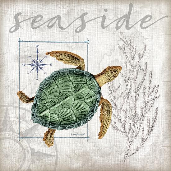 Coastal Sea Turtle-Jennifer Pugh-Art Print