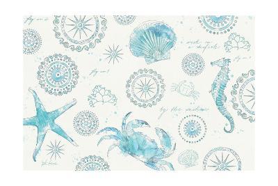 Coastal Splash V-Katie Pertiet-Art Print