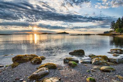 Coastal Sun Star with Rocks- james_wheeler-Photographic Print
