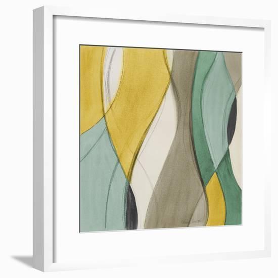 Coastal Teal Coalescence II-Lanie Loreth-Framed Premium Giclee Print